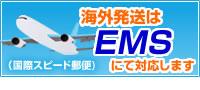 海外発送はEMSにて対応致します